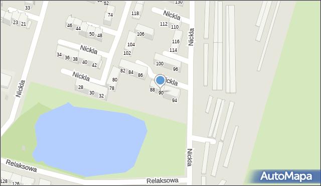 Bytom, Nickla Józefa, 90, mapa Bytomia