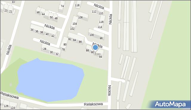 Bytom, Nickla Józefa, 92, mapa Bytomia