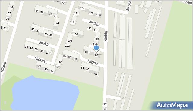 Bytom, Nickla Józefa, 96, mapa Bytomia