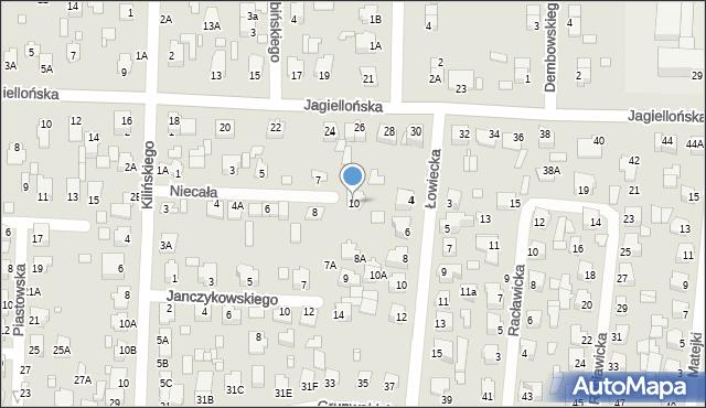 Chełm, Niecała, 10, mapa Chełma