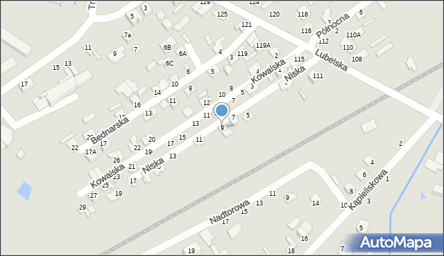 Chełm, Niska, 9, mapa Chełma