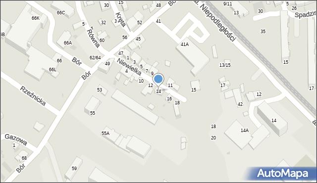 Częstochowa, Niewielka, 14, mapa Częstochowy