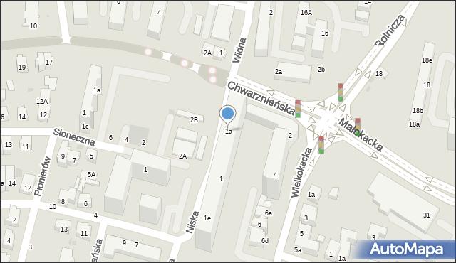 Gdynia, Niska, 1a, mapa Gdyni