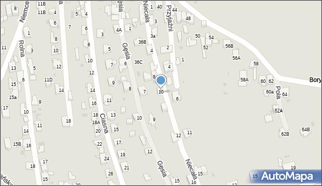 Jaworzno, Niecała, 10a, mapa Jaworzno