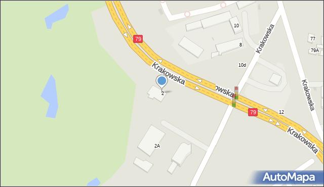 Jaworzno, Niemcewicza Juliana Ursyna, 2, mapa Jaworzno