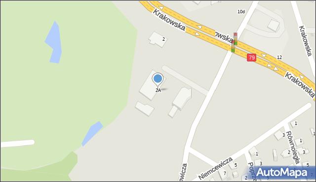 Jaworzno, Niemcewicza Juliana Ursyna, 2A, mapa Jaworzno