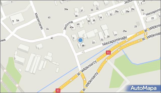 Łódź, Niezapominajki, 37, mapa Łodzi