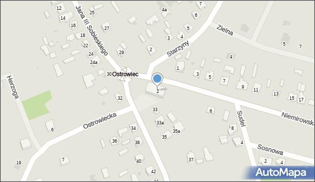 Lubaczów, Niemirowska, 2, mapa Lubaczów