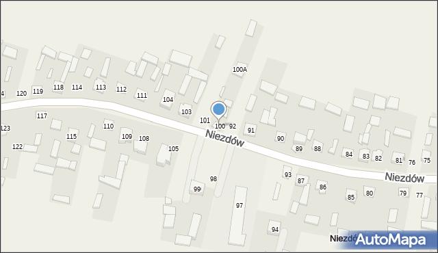 Niezdów, Niezdów, 100, mapa Niezdów
