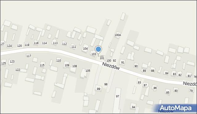 Niezdów, Niezdów, 102, mapa Niezdów
