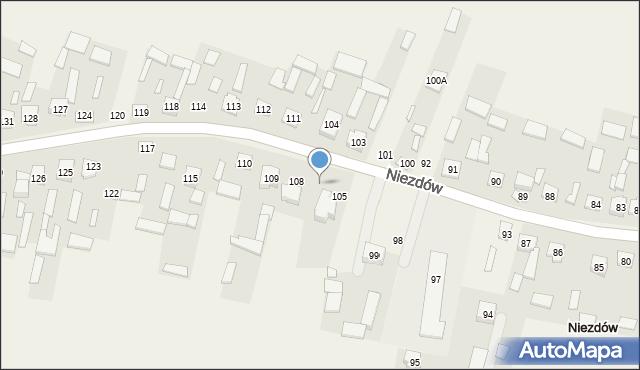 Niezdów, Niezdów, 107, mapa Niezdów