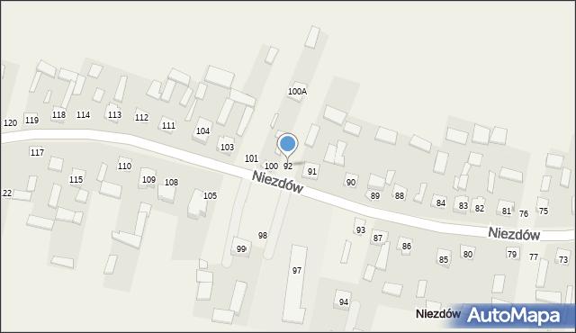 Niezdów, Niezdów, 92, mapa Niezdów