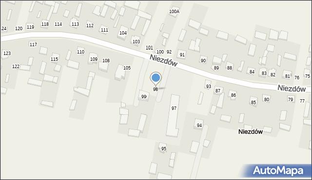 Niezdów, Niezdów, 98, mapa Niezdów