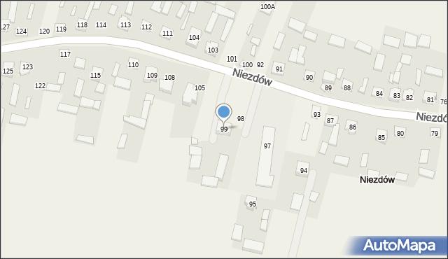 Niezdów, Niezdów, 99, mapa Niezdów