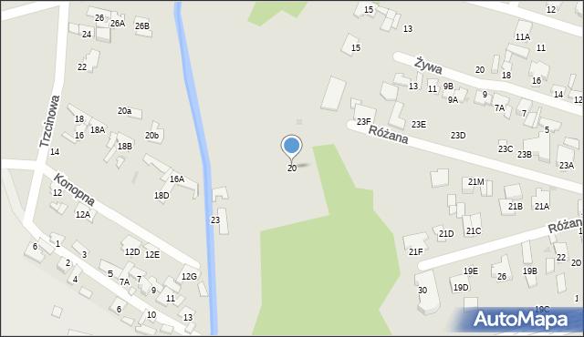 Radom, Niska, 20, mapa Radomia