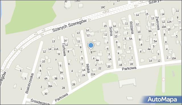 Radom, Niska, 6, mapa Radomia