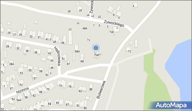 Radom, Nizinna, 71A, mapa Radomia
