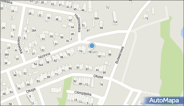Radom, Nizinna, 80, mapa Radomia