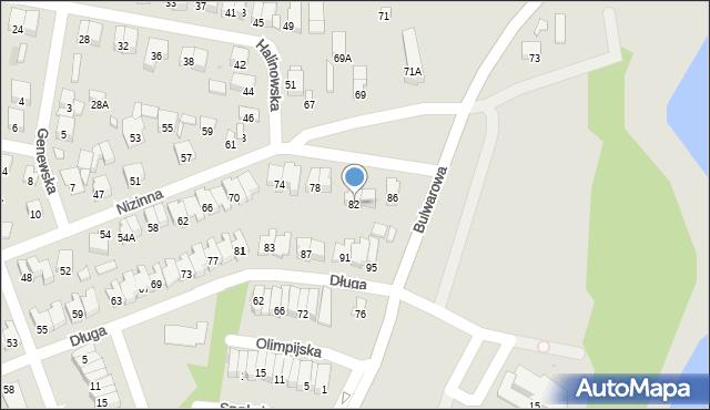 Radom, Nizinna, 82, mapa Radomia