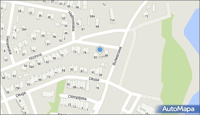 Radom, Nizinna, 84, mapa Radomia
