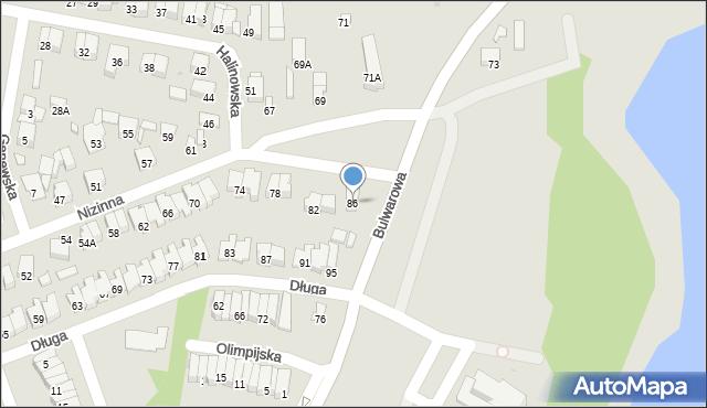 Radom, Nizinna, 86, mapa Radomia