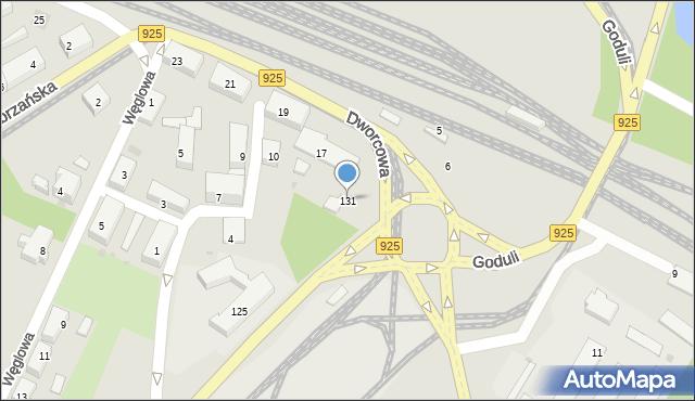 Ruda Śląska, Niedurnego Piotra, 131, mapa Rudy Śląskiej
