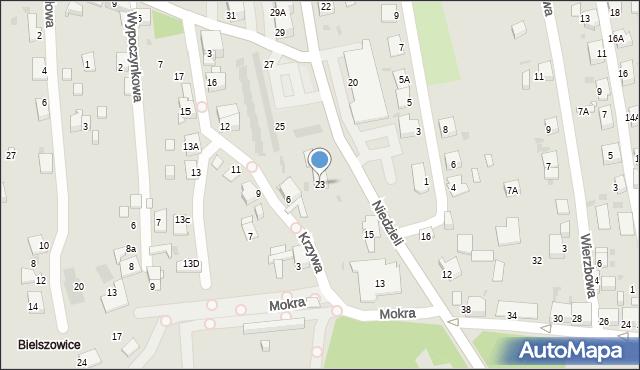 Ruda Śląska, Niedzieli Józefa, ks., 23, mapa Rudy Śląskiej