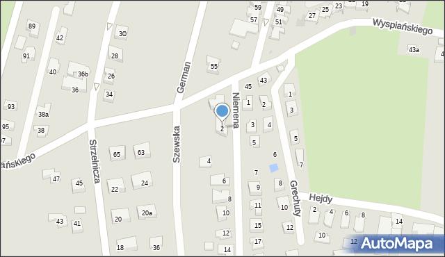 Rzeszów, Niemena Czesława, 2, mapa Rzeszów