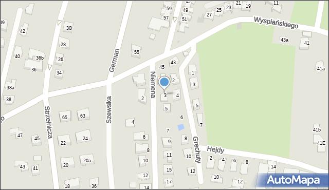 Rzeszów, Niemena Czesława, 3, mapa Rzeszów