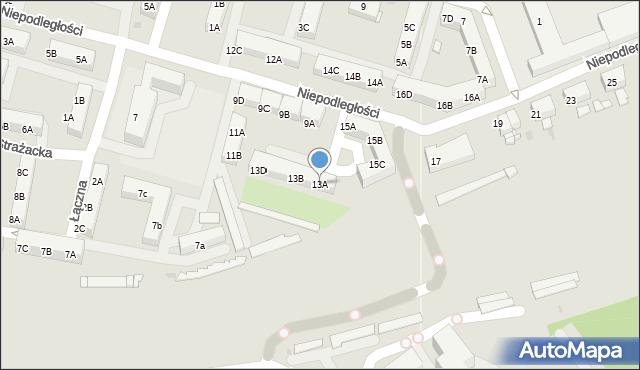 Sosnowiec, Niepodległości, 13A, mapa Sosnowca