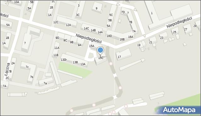 Sosnowiec, Niepodległości, 15C, mapa Sosnowca