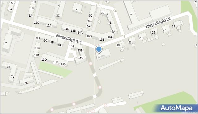 Sosnowiec, Niepodległości, 17, mapa Sosnowca