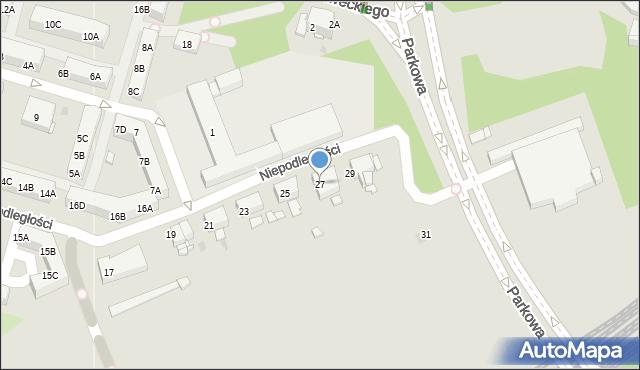Sosnowiec, Niepodległości, 27, mapa Sosnowca