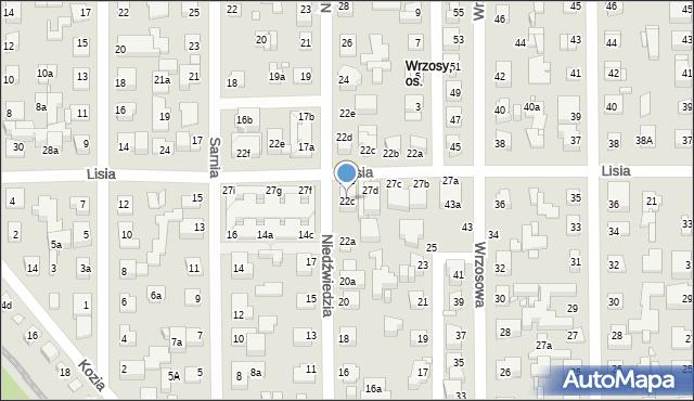Toruń, Niedźwiedzia, 22c, mapa Torunia