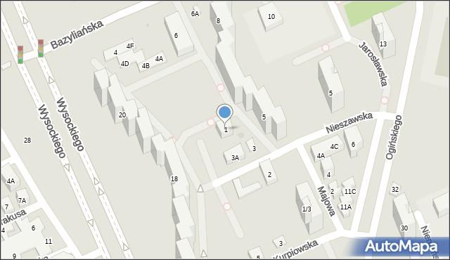 Warszawa, Nieszawska, 1, mapa Warszawy