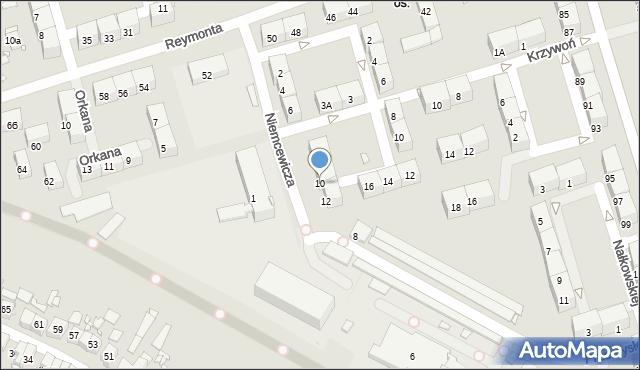 Zabrze, Niemcewicza Juliana Ursyna, 10, mapa Zabrza