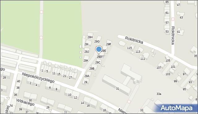 Zabrze, Niepokólczyckiego Franciszka, płk., 29D, mapa Zabrza