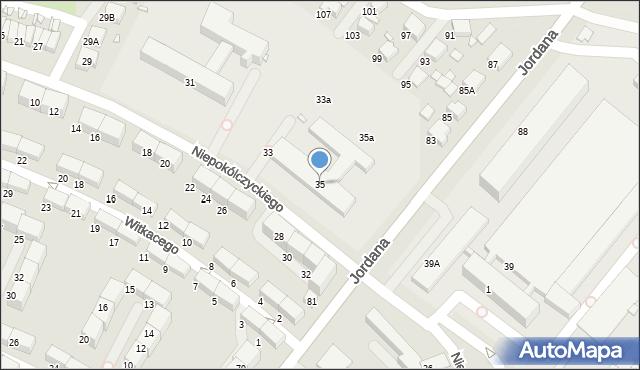 Zabrze, Niepokólczyckiego Franciszka, płk., 35, mapa Zabrza