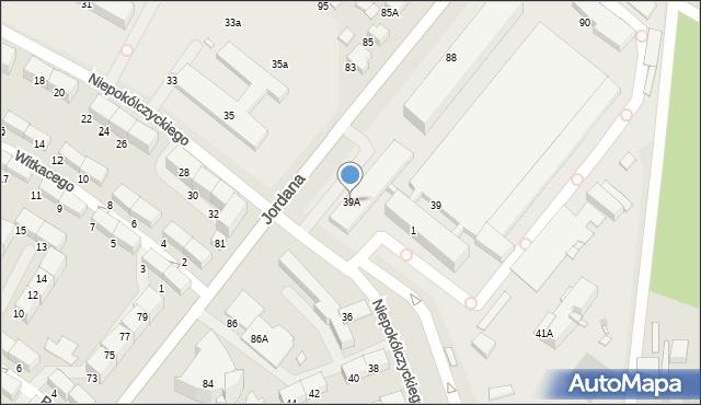 Zabrze, Niepokólczyckiego Franciszka, płk., 39A, mapa Zabrza