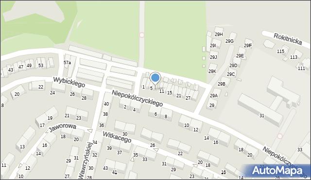 Zabrze, Niepokólczyckiego Franciszka, płk., 7, mapa Zabrza