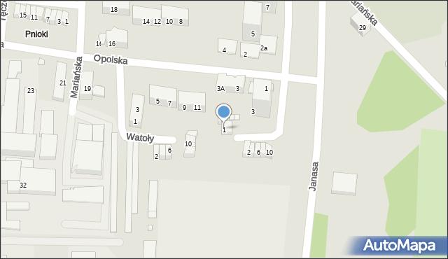Chorzów, Nowaka Ignacego, dr., 1, mapa Chorzów