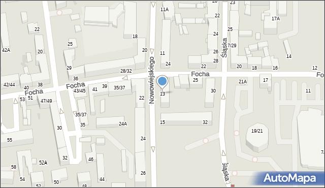 Częstochowa, Nowowiejskiego, 13, mapa Częstochowy
