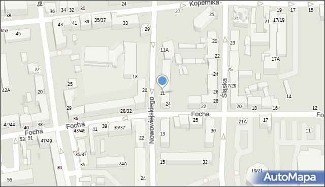 Częstochowa, Nowowiejskiego Feliksa, 11, mapa Częstochowy