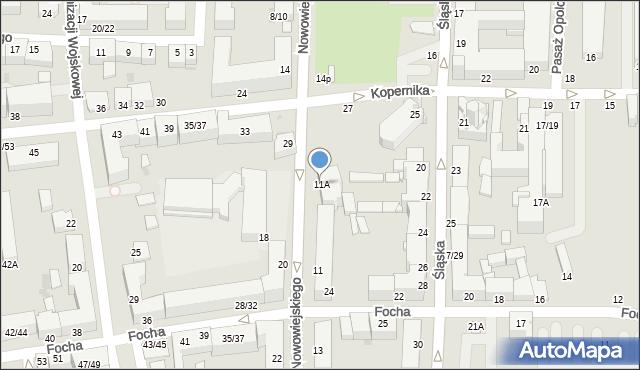 Częstochowa, Nowowiejskiego Feliksa, 11A, mapa Częstochowy