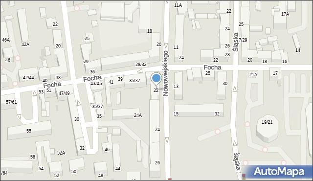 Częstochowa, Nowowiejskiego Feliksa, 22, mapa Częstochowy