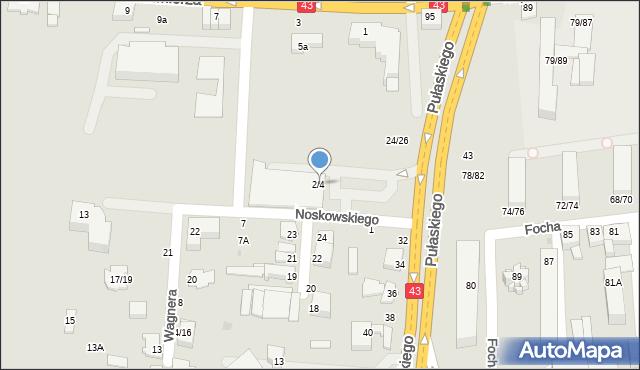Częstochowa, Noskowskiego Zygmunta, 2/4, mapa Częstochowy