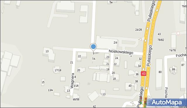 Częstochowa, Noskowskiego Zygmunta, 7, mapa Częstochowy