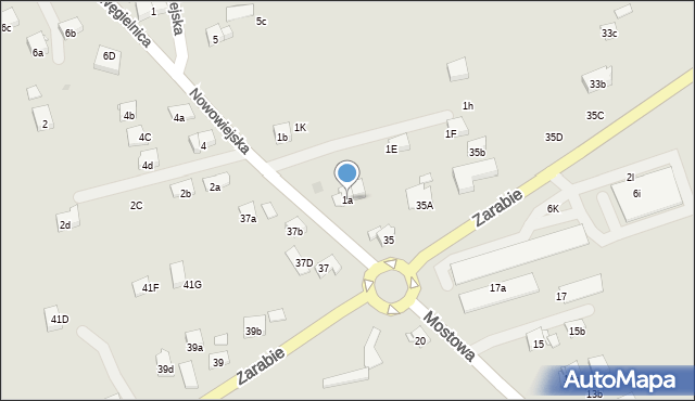 Dobczyce, Nowowiejska, 1a, mapa Dobczyce