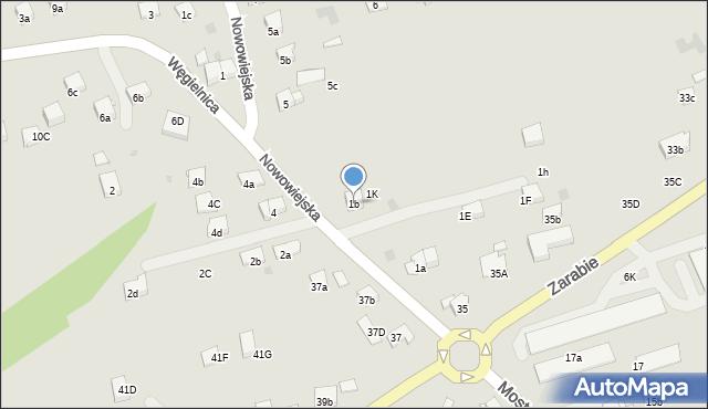 Dobczyce, Nowowiejska, 1b, mapa Dobczyce