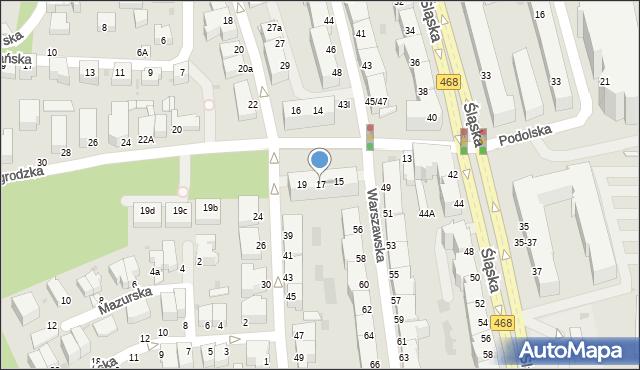 Gdynia, Nowogrodzka, 17, mapa Gdyni